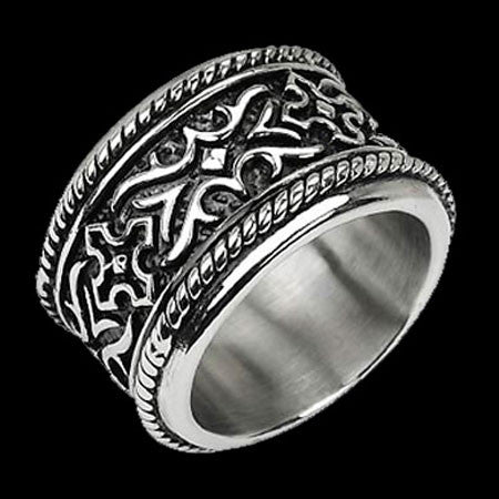 STAINLESS STEEL MEN'S KNIGHT'S ARMOUR RING