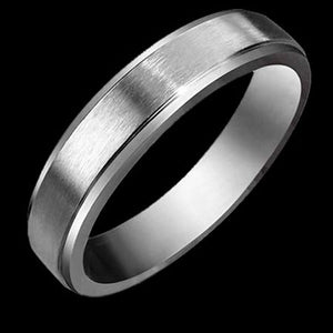 STAINLESS STEEL SATIN FINISH THIN BAND RING