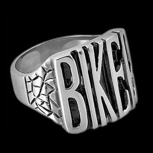 STAINLESS STEEL BIKER IDENTITY RING - 2