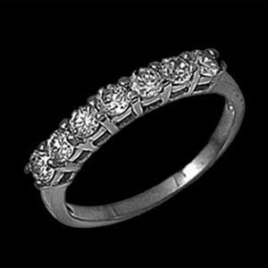 STAINLESS STEEL PAVED CZ RING