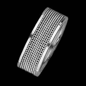 STAINLESS STEEL MESH BAND RING