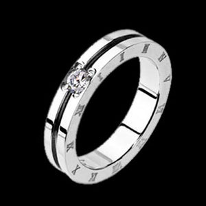 STAINLESS STEEL DUAL BAND ROMAN NUMERAL RING