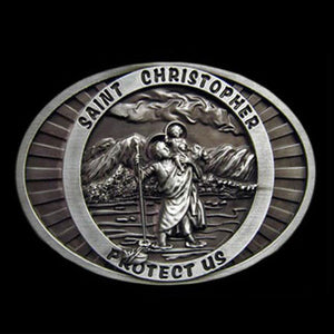 SAINT CHRISTOPHER BELT BUCKLE