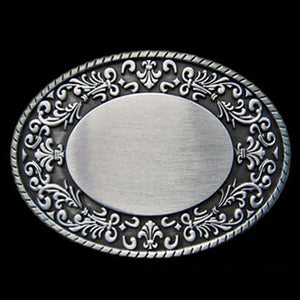 OVAL WESTERN BELT BUCKLE