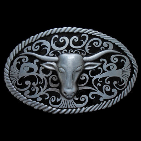 LONGHORN COW BELT BUCKLE
