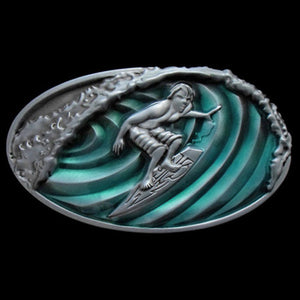 SURFER WAVE BELT BUCKLE