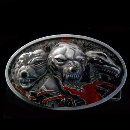 HELL HOUNDS CAST BELT BUCKLE