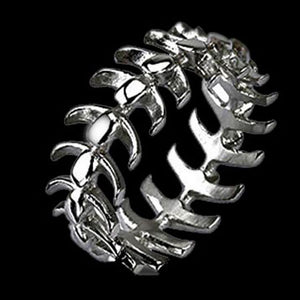 STAINLESS STEEL VERTABRAE RING