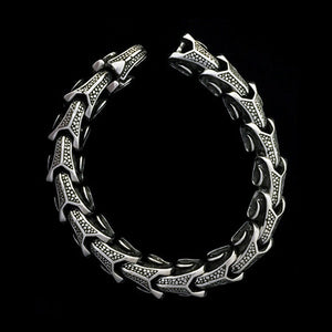 STAINLESS STEEL DRAGON'S SPINE MEN'S BRACELET