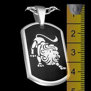 STAINLESS STEEL LEO ZODIAC DOG TAG - 2