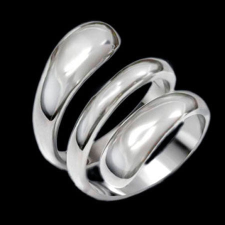 STAINLESS STEEL LADIES COILED SPRING RING