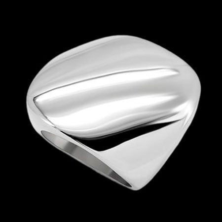 STAINLESS STEEL LADIES CONVEX RING