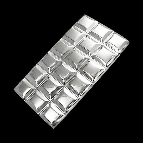 STAINLESS STEEL GRID PATTERN MONEY CLIP