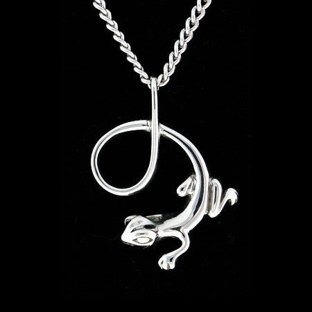 STAINLESS STEEL 3D LIZARD NECKLACE