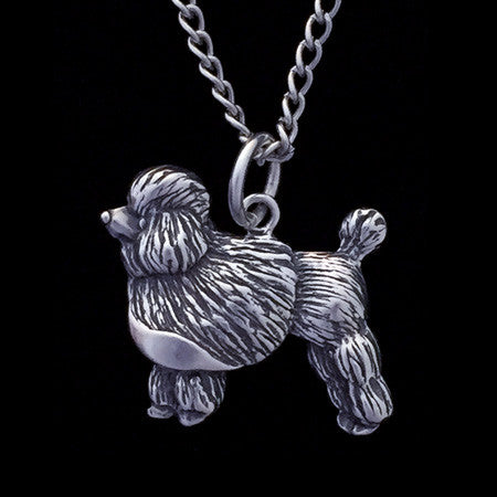 STERLING SILVER POODLE DOG NECKLACE