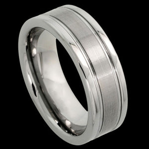 TUNGSTEN CARBIDE SATIN CENTRE RING