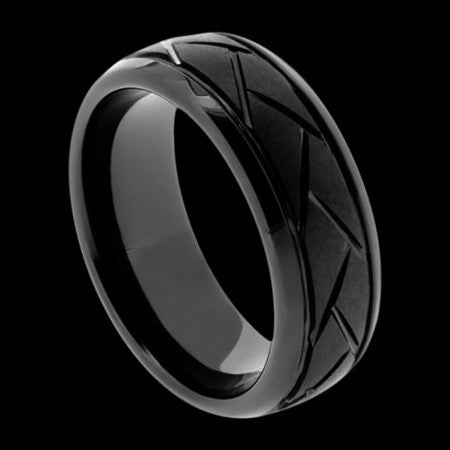 BLACK CERAMIC TYRE TREAD RING