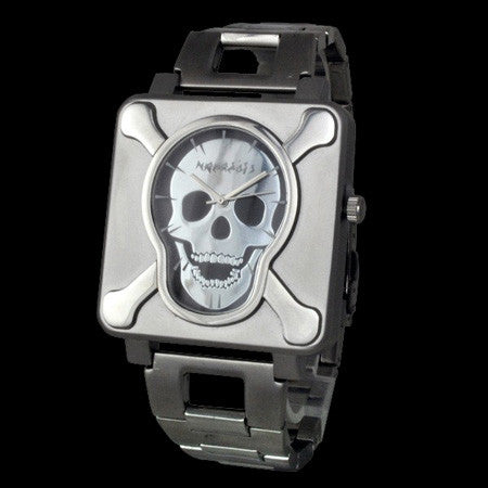 NEMESIS SQUARE SKULL TIME WATCH