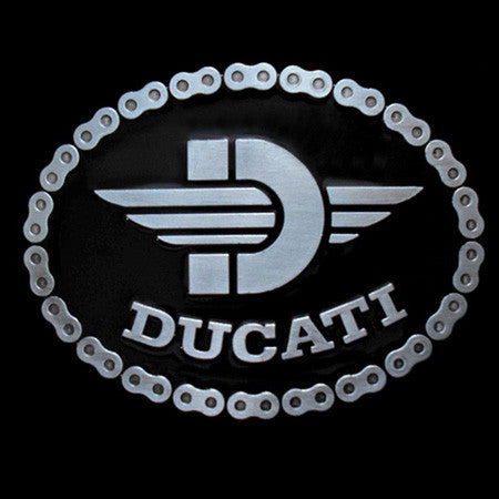 DUCATI CHAIN MOTORCYCLE BELT BUCKLE
