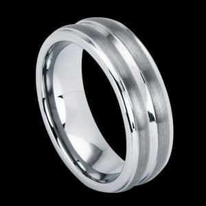 TUNGSTEN CARBIDE WIDE CHANNEL RING