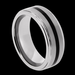 TUNGSTEN CARBIDE BLACK IP BAND RING