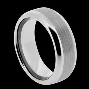 TUNGSTEN CARBIDE MATTE CENTRE RING
