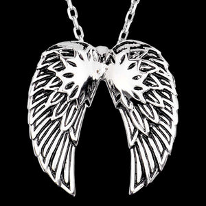 STAINLESS STEEL MEN'S ANGEL WINGS NECKLACE