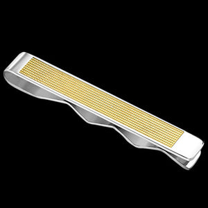 STAINLESS STEEL GOLD IP MESH TIE CLIP