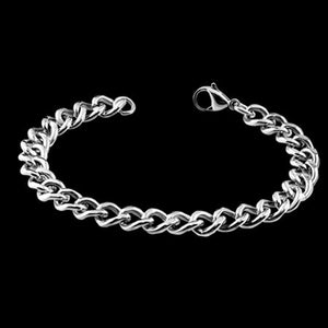 STAINLESS STEEL 21CM 9MM CUBAN LINK CHAIN BRACELET