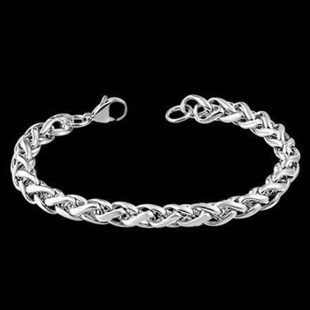 STAINLESS STEEL 22CM 9MM FOXTAIL CHAIN BRACELET