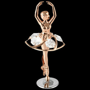 CRYSTOCRAFT SWAROVSKI BALLERINA ROSE GOLD