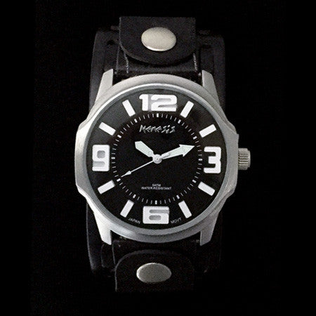 NEMESIS EMBOSSED 3D BLACK DIAL WATCH