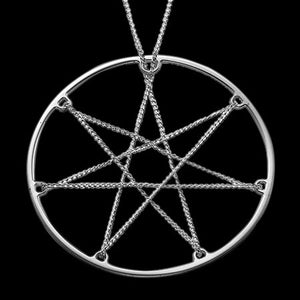 MY ONLY ONE IN CHAINS PENTAGRAM STAR STERLING SILVER NECKLACE