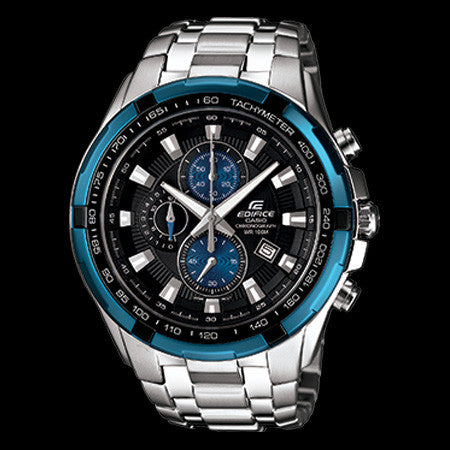 CASIO EDIFICE BLUE DIAL CHRONOGRAPH WATCH EF539D-1A2