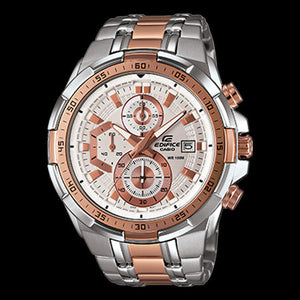 CASIO EDIFICE ROSE GOLD DIAL ILLUMINATOR WATCH EFR539SG-7A5