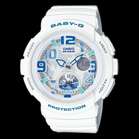 CASIO BABY-G WHITE WORLD TIME WATCH BGA190-7B