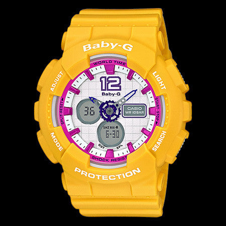 CASIO BABY-G YELLOW SPORTY WATCH BA120-9B