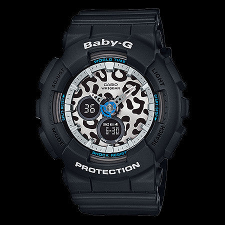 CASIO BABY-G BLACK LEOPARD DIAL WATCH BA120LP-1