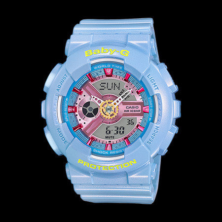 CASIO BABY-G BLUE NEO PASTEL WATCH BA110CA-2A