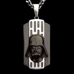 STAR WARS STAINLESS STEEL DARTH VADER 3D HELMET NECKLACE