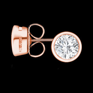 KAGI CELESTIAL ROSE GOLD STUD EARRINGS