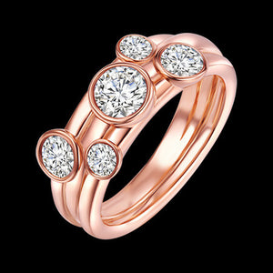 KAGI CELESTIAL ROSE GOLD RING