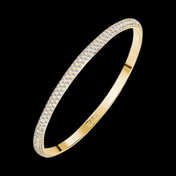 KAGI SPARKLE WISH GOLD BANGLE