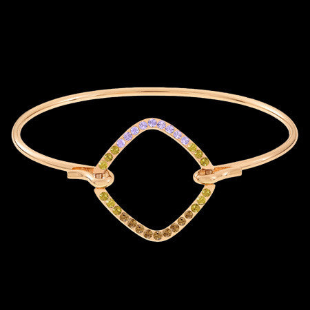 LOLA & GRACE NEW LINE SQUARE WIRE ROSE GOLD BANGLE