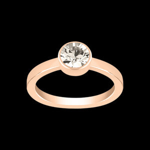 LOLA & GRACE STONE SOLITAIRE ROSE GOLD RING