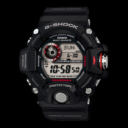 CASIO G-SHOCK BLACK RANGEMAN TRIPLE SENSOR WATCH GW9400-1D