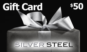 $50 SILVER STEEL GIFT CARD