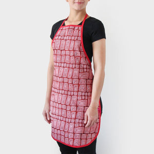 Woman wearing apron souvenir made in Australia