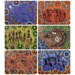 Australian Art Colin Jones Placemat Set x 6