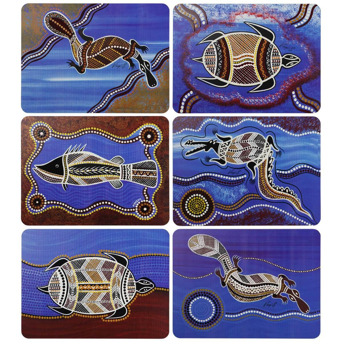 Australian Art Placemats Viki Skeen | Set of 6